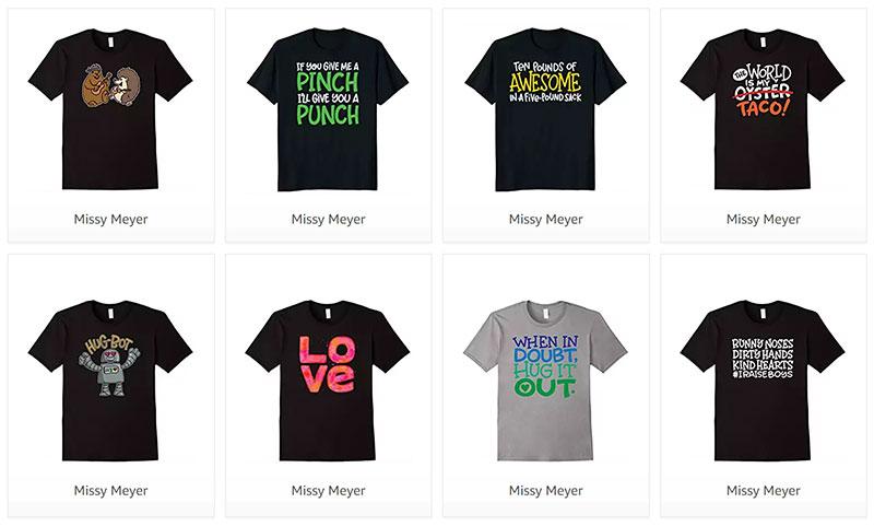 Missy Meyer shirts through Amazon